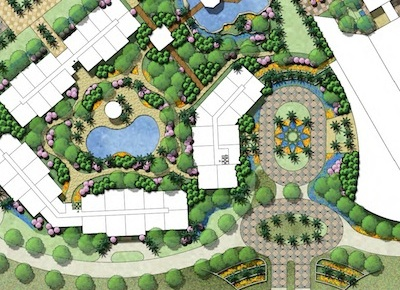 Innovations design group landscape architects lakeside for Hotel landscape design